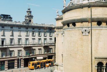 Piazzale della Steccata a Parma maggio 2018